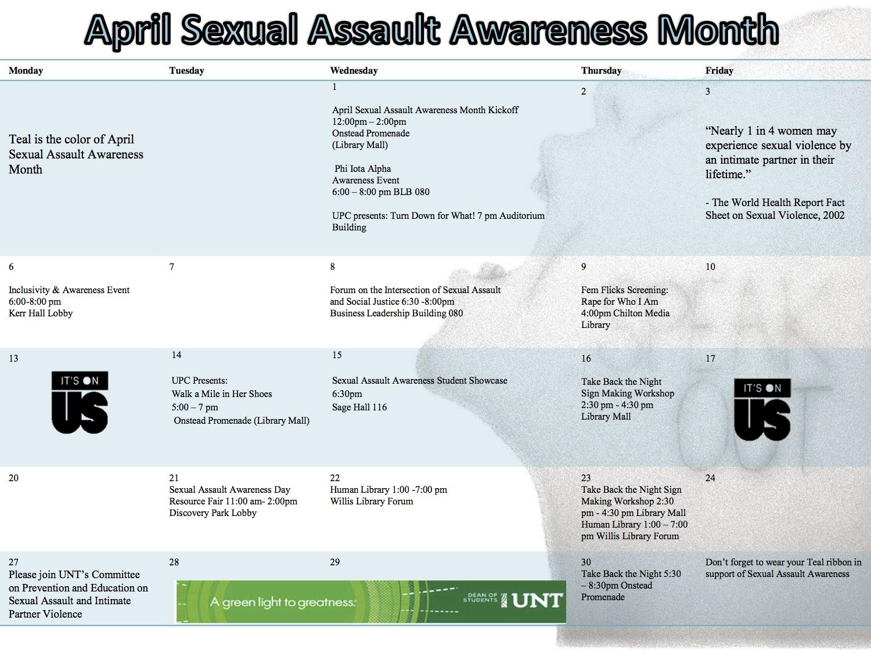 Unt Sexual Assault Awareness Month Events Untspeaksout